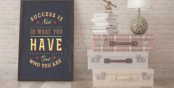 Poster sur le succès