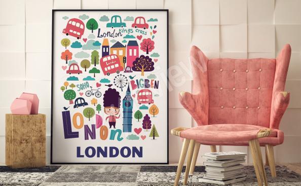 Poster symboles de Londres