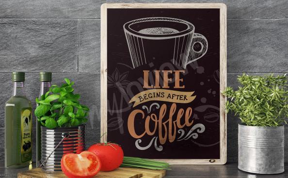Poster tasse de café pour cuisine