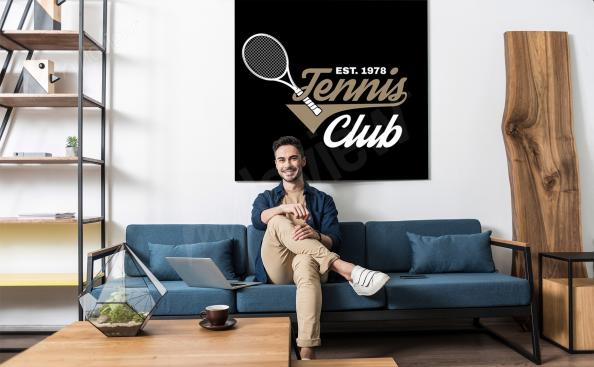 Poster tennis pour salon