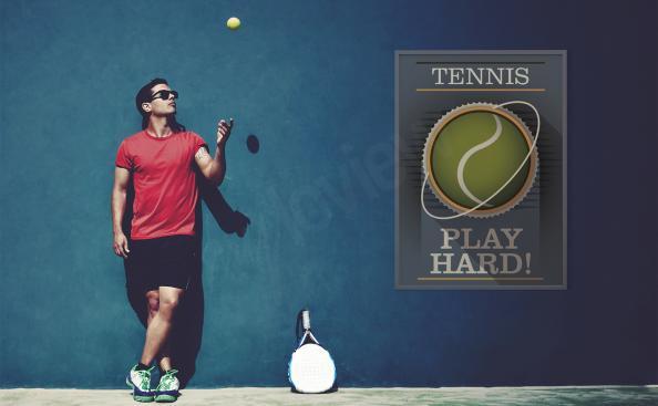 Poster tennis typographique