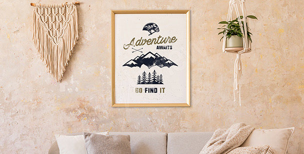 Poster sommet de montagne