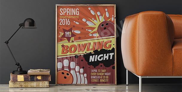 Poster tournoi de quilles