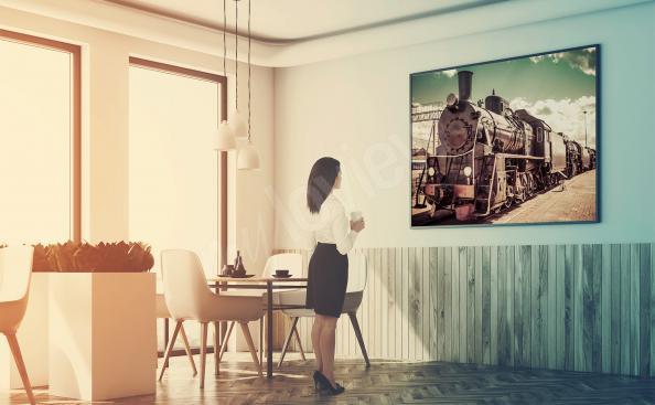 Poster train pour restaurant