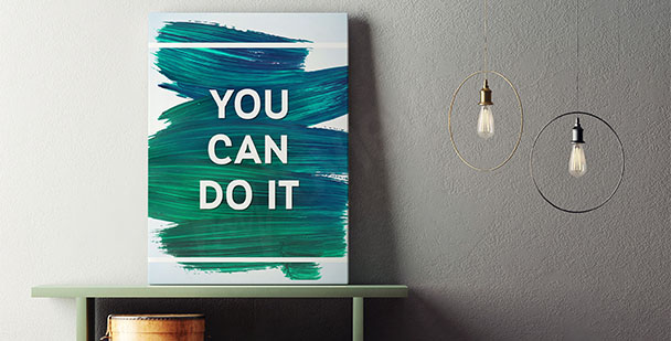 Poster typographique à motivation