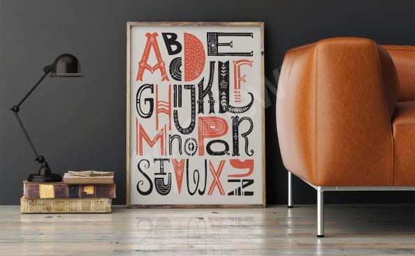 Poster typographique alphabet