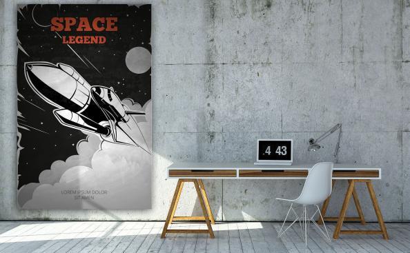 Poster vaisseau spatial vintage