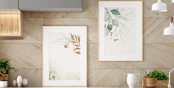 Poster végétal aquarelle