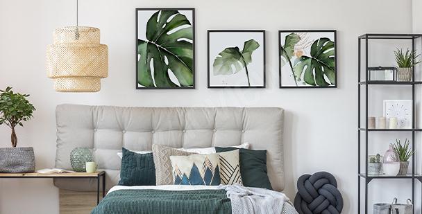 Poster végétal pour chambre à coucher