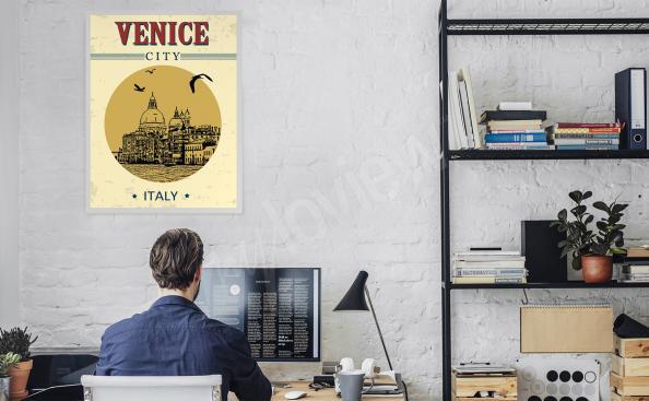 Poster Venise au bureau