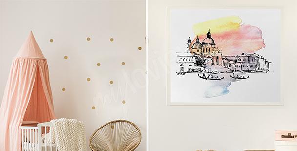Poster Venise chambre d'enfant