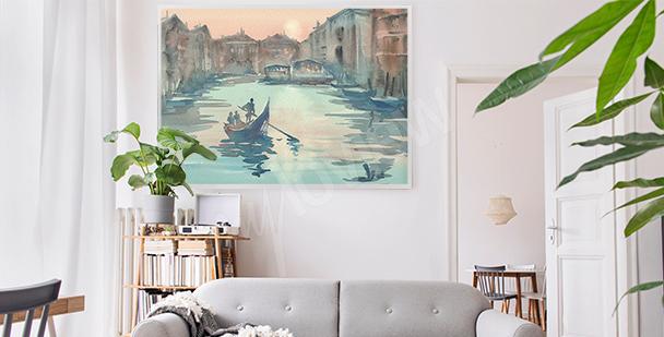 Poster Venise dans le brouillard