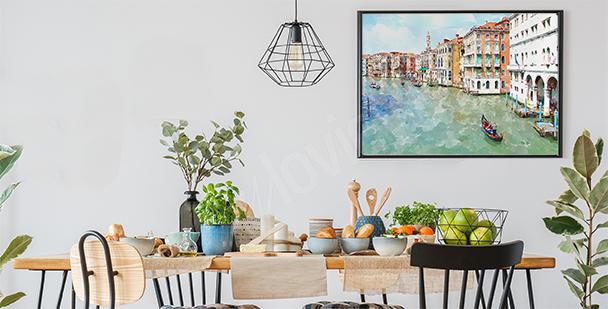 Poster Venise peinte à l'aquarelle