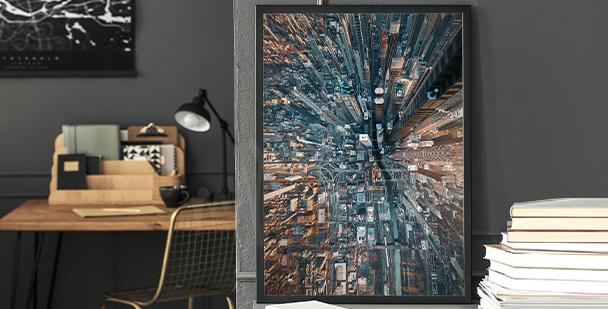 Poster ville – peinture