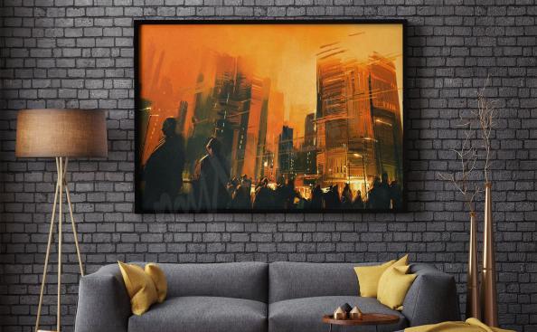 Poster ville pour salon