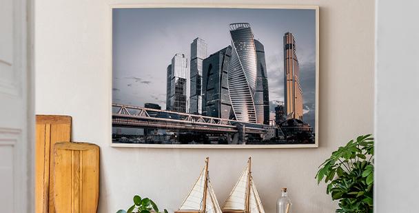 Poster ville vue panoramique