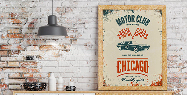 Poster vintage club automobile
