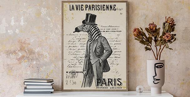 Poster vintage en noir et blanc