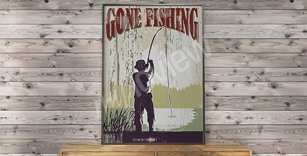 Poster vintage - pêche