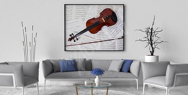 Poster violon et partition pour un salon