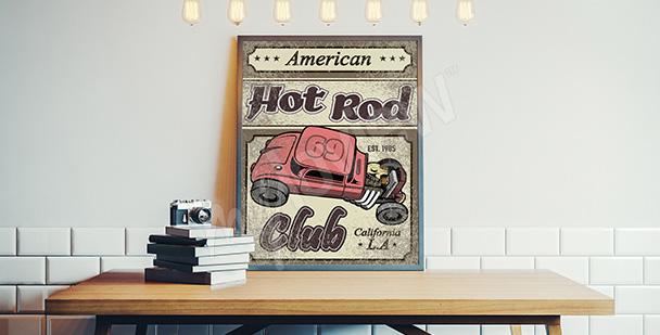 Poster voiture rétro