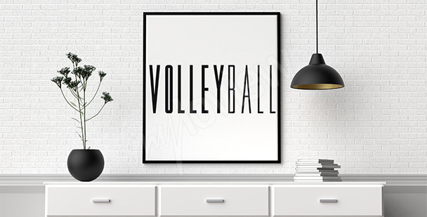 Poster volley-ball et typographie