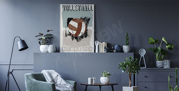 Poster volley-ball vintage