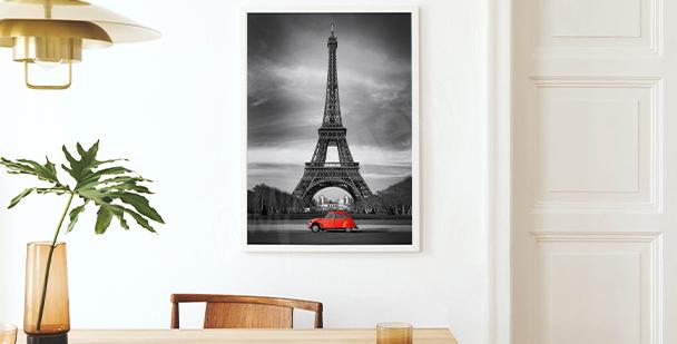 Poster Vue sur la tour Eiffel