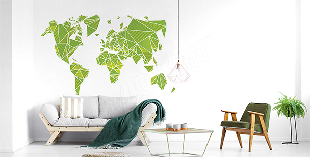 Sticker 3D avec carte du monde
