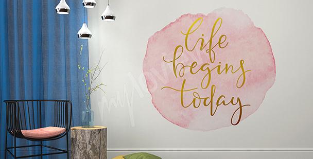 Sticker «la vie commence aujourd'hui»