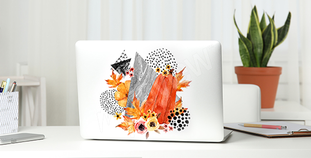 Sticker abstrait pour computer