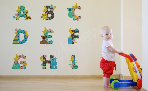 Sticker alphabet avec des animaux