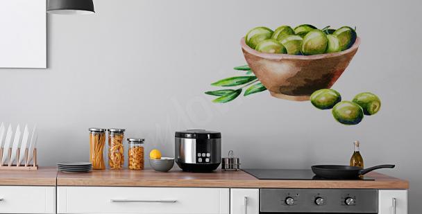 Sticker aquarelle pour cuisine