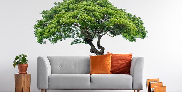 Sticker arbre avec feuilles