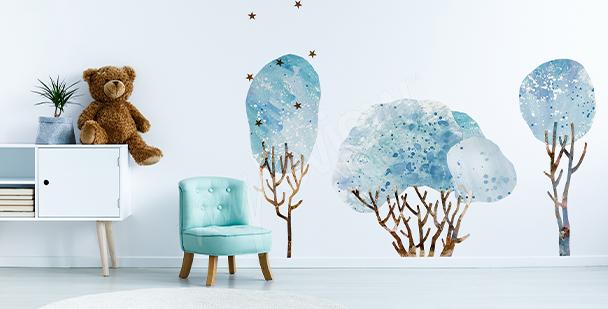 Sticker arbre et oiseaux à l'envol