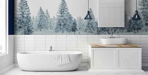 Sticker arbres pour salle de bains
