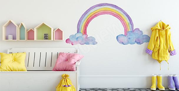 Sticker arc-en-ciel pour petite fille