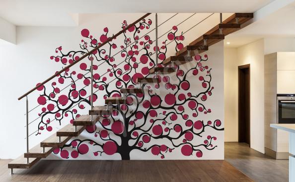 Sticker avec arbre pour entrée