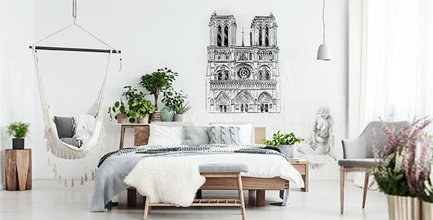 Sticker avec la cathédrale Notre Dame