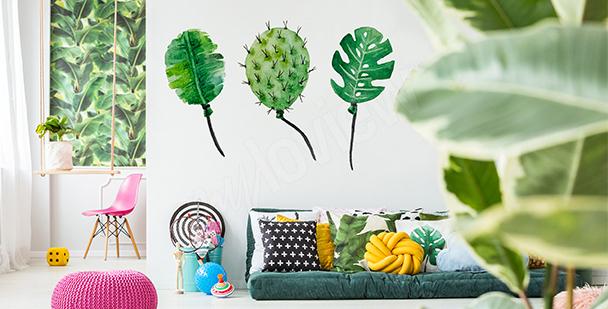 Sticker ballons de feuilles