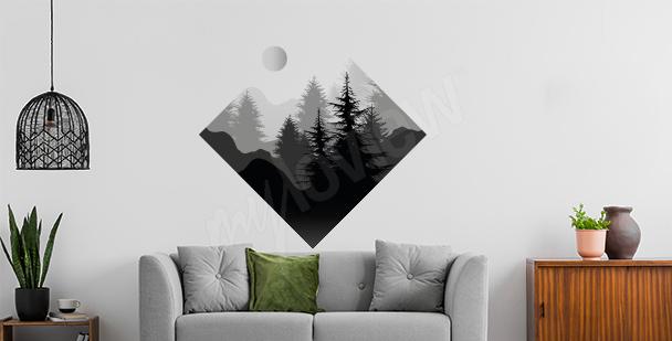 Sticker bois en forme géométrique