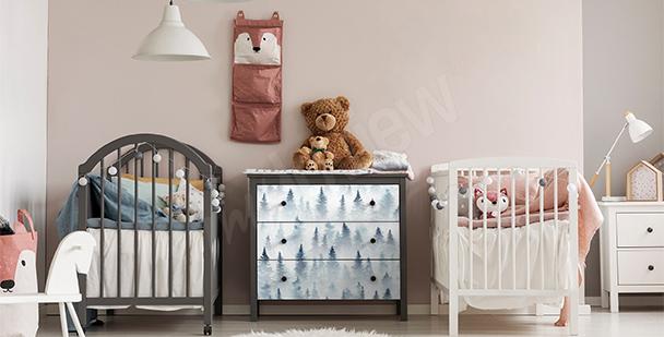 Sticker bois pour une chambre d'enfant