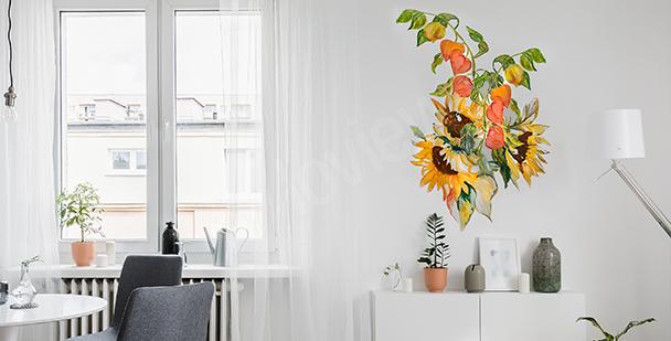 Sticker bouquet ensoleillé