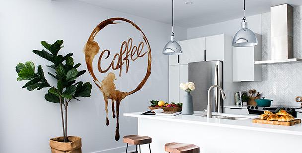 Sticker café à l'aquarelle
