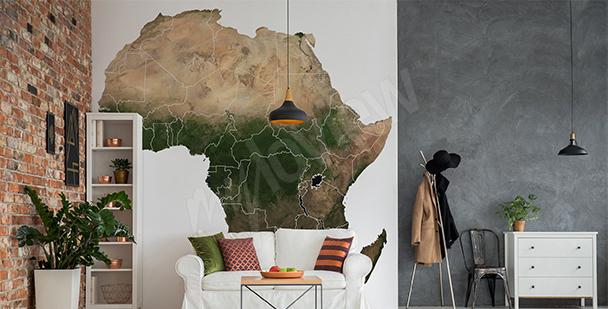 Sticker carte d'Afrique pour salon