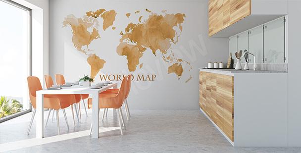 Sticker carte du monde vieillie