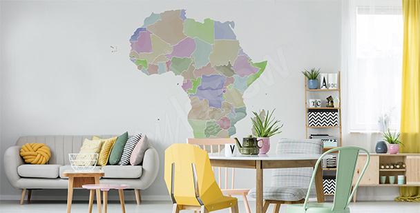 Sticker carte politique Afrique
