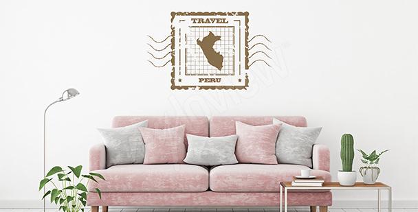 Sticker carte rétro: Pérou