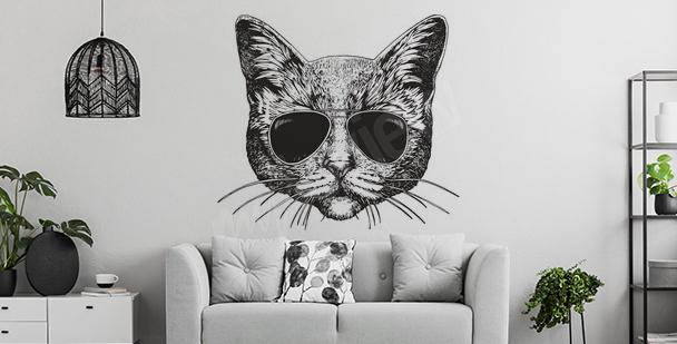 Sticker chat pour salon