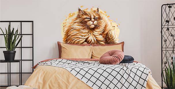Sticker chat roux